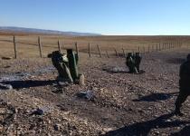 Выжигание твердотопливных  реактивных двигателей изделия 3М9 в Республике Бурятия