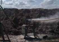 Гидроабразивная резка 100 мм снаряда