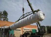 Перегрузка транспортно пускового контейнера изделия С-300
