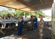 Стенд для расснаряжения изделий 5В27Д в Республике Мозамбик