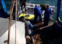 Спуск на воду подводной части системы Sensys Forpost I